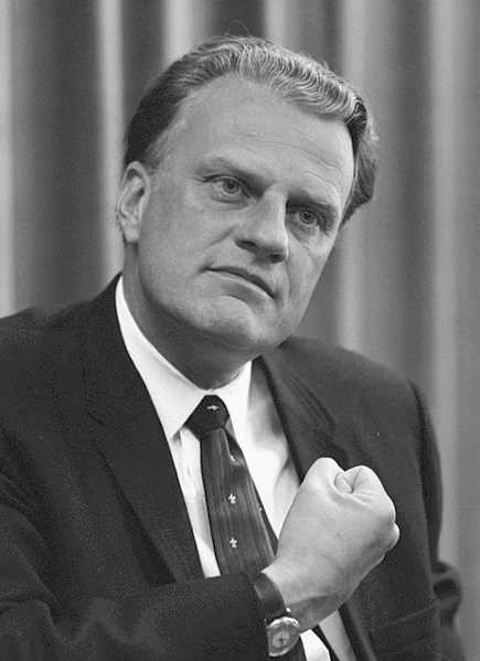 Black and white image of Billy Graham, 11 April 1966