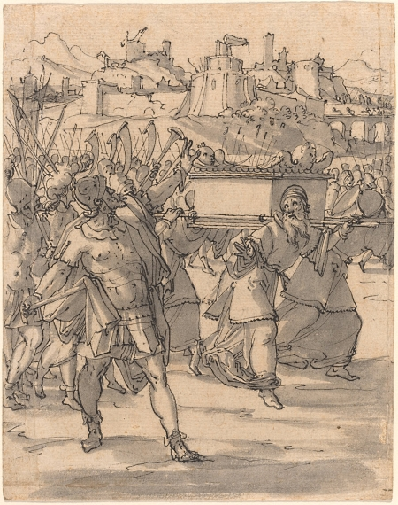 Joshua and the Israelites before the Walls of Jericho by Christoph Murer about 1600.