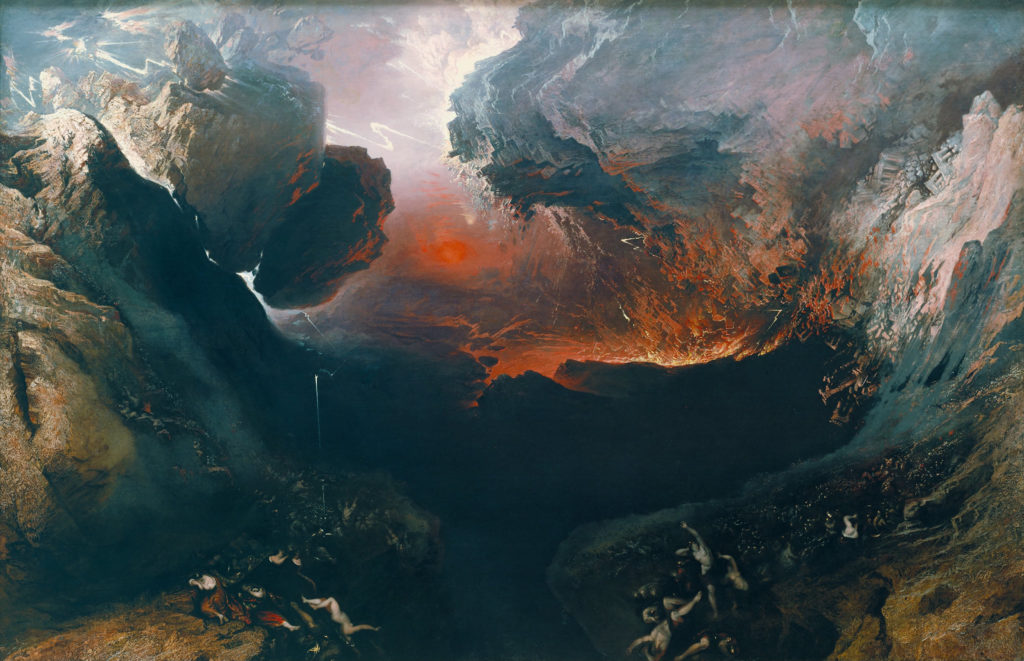 God's Wrath illustrated in The Great Day of His Wrath by John Martin